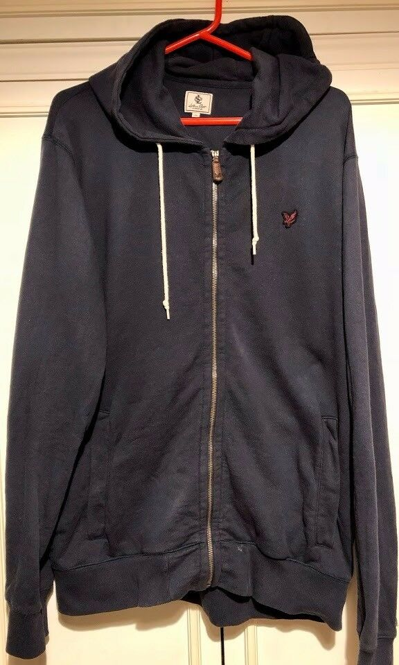 Navy Lyle And Scott Hoodie XL Mens