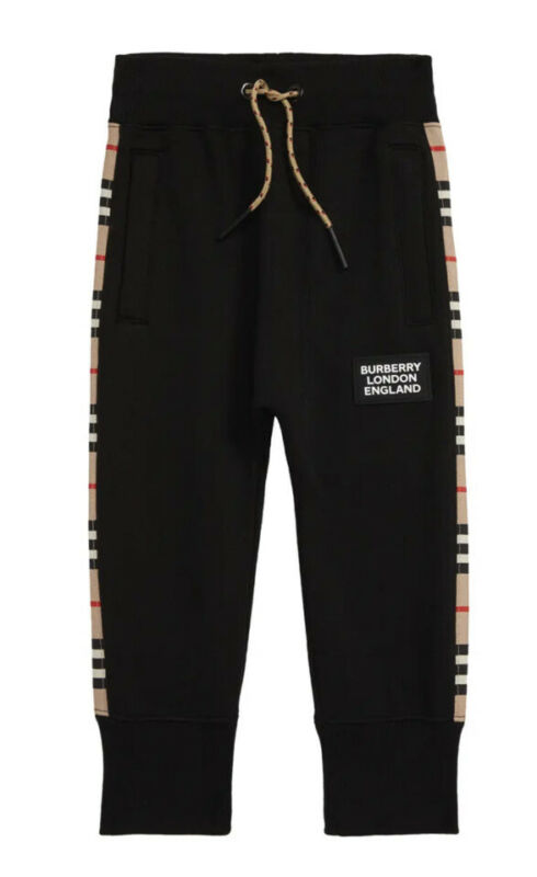 Auth Burberry Boys Hamilton Jogger Pants With Zip Pockets Black Size 12