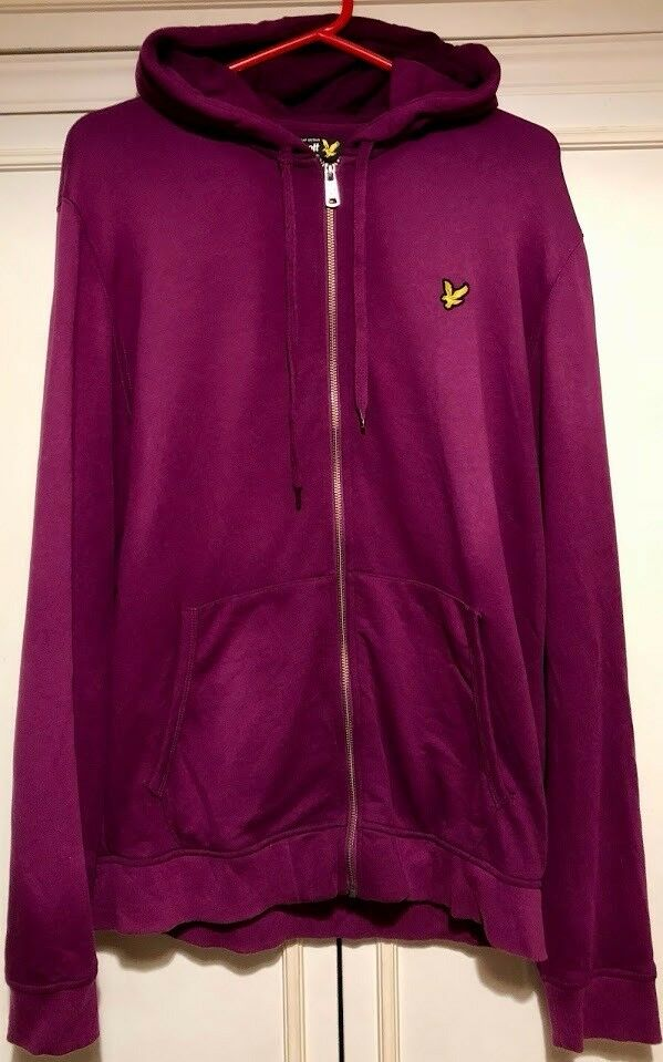 Purple Lyle And Scott Hoodie XL Mens