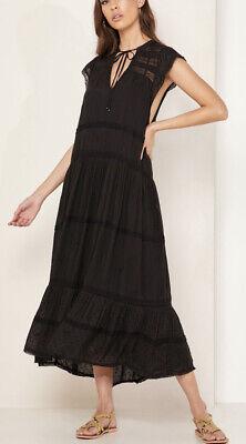 Free People Midnight Magic Midi Dress In Black Size Medium MSRP: $168