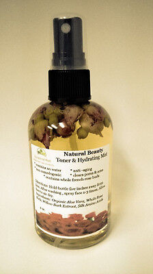 Natural Beauty Aloe Rose no water Toner & Hydrating Mist whole french rose buds
