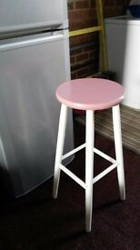 vintage painted sturdy wooden stool