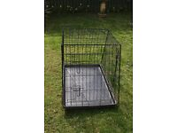 large dog cage 36 inch long vgc