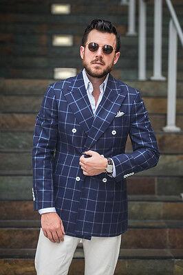 Men Checkered Suit,Windowpane Fashion Men Suit,bespoke custom made men suit