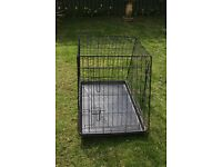 large dog cage size is 36 inch long all folds down flat in vgc collect from dagenham essex