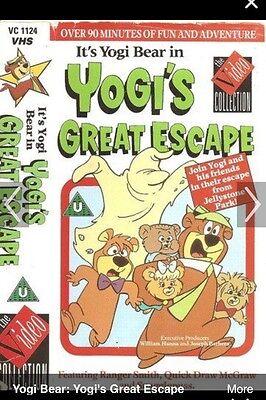 YOGIS GREAT ESCAPE VIDEO VHS RARE YOGI BEAR ANIMATED CLASSIC CARTOON