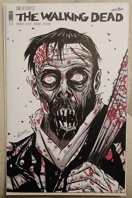 Walking Dead #150 Signed & Sketch Of Negan As A Walker!! Rare!! NM Or (Walking Dead Best Walkers)
