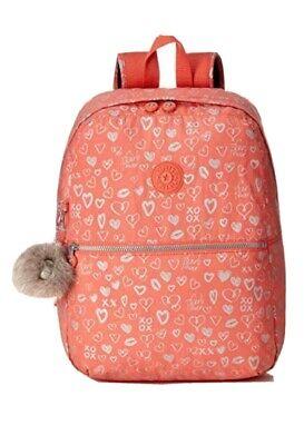 Kipling Emery School bag Backpack Rucksack Hearty Pink New:Rrp£77