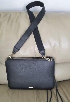 "Rebecca Minkoff Regan Sleeve Leather 13"" MacBook/Laptop Bag w/ Strap Slim Knavish"