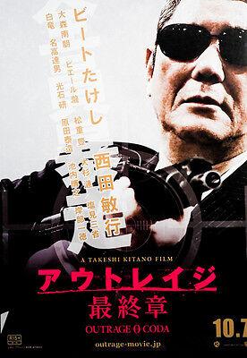 Outrage 0 Coda 2017 Takeshi Kitano Japanese Chirashi Mini Movie Poster B5