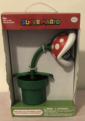 "RARE New Nintendo Super Mario 12"" Piranha Plant Lamp LARGE World Light Figure"