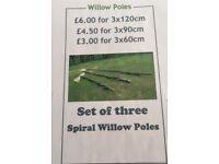 Willow Garden Poles