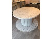 Shabby Chic upcycled Cable drum table