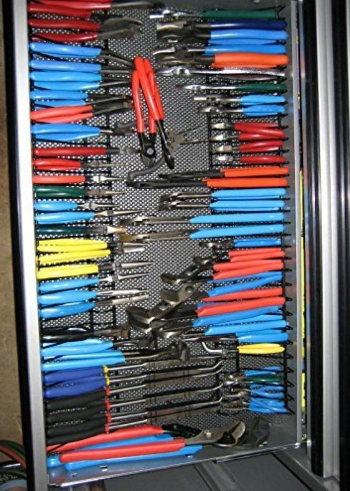 pliers holder rack tool drawer storage toolbox