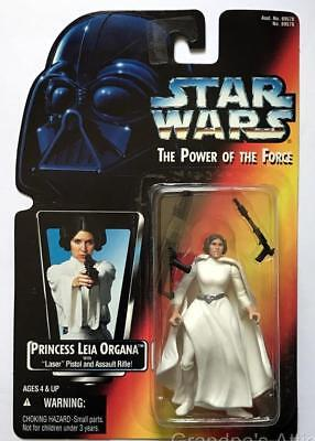 Star Wars POTF Red Card ~ PRINCESS LEIA ORGANA ~ 1995 Kenner Figure ~ Unopened
