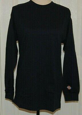 DICKIES Long Sleeve Fashion T Shirt Navy Black White Excellent Quality -