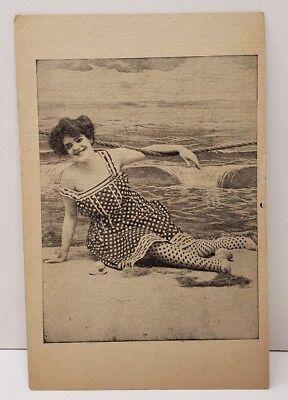 Victorian Women In Bathing Suit Photo Print Vintage Postcard C4