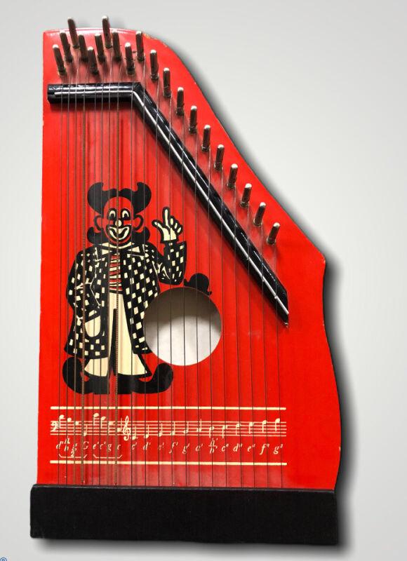 Vintage German Kinder Zither Kids Musical Instrument