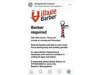 Part time barber job