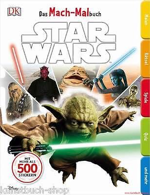 Fachbuch Star Wars™, Das Mach-Malbuch, Mitmachbuch mit vielen Bildern & Stickern