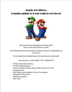 Mario Brothers. Landscaping & Renovations! Summer, Fall & Winter