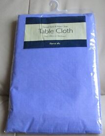TABLECLOTH - Brand new & packaged - Blue, 178cm x 132cm, flannel back & wipe clean, s