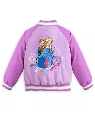 Disney Store FROZEN ELSA and ANNA Purple Varsity Jacket for Girls; Size 4; NWT - Varsity Jacket For Girl