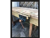 Solid Wooden workbench joiner record 52 vice