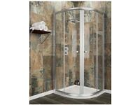 Brand new - Quadrant 800 x 800 shower enclosure, tray and waste