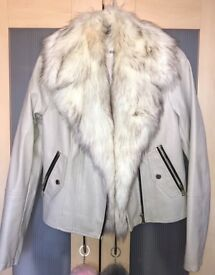Cream River Island leather jacket