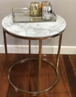 Hampton's Style Gold Frame Marble Coffee Table