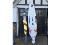 Bic vivacious 282 windsurf board and sail