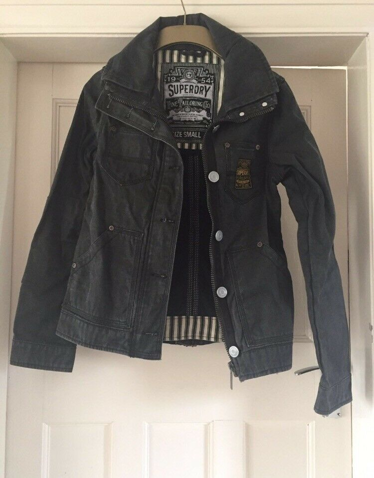 Superdry size S dark denim jacket, never warn