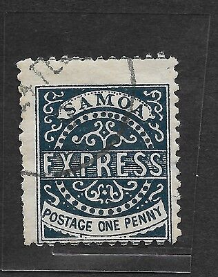 1877 SAMOA STAMP 1D ULTRAMARINE (3RD STATE BUT PLEASE DOUBLE CHECK) USED