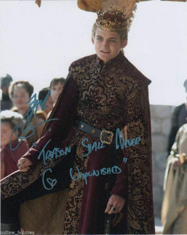 Jack Gleeson Game of Thrones Autographed Signed 8x10 Photo COA #1
