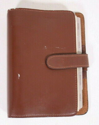Buxton Ring Planner Data Mate Deluxe Rare Vtg Brown Leather 7.5x5.5 Ring Binder