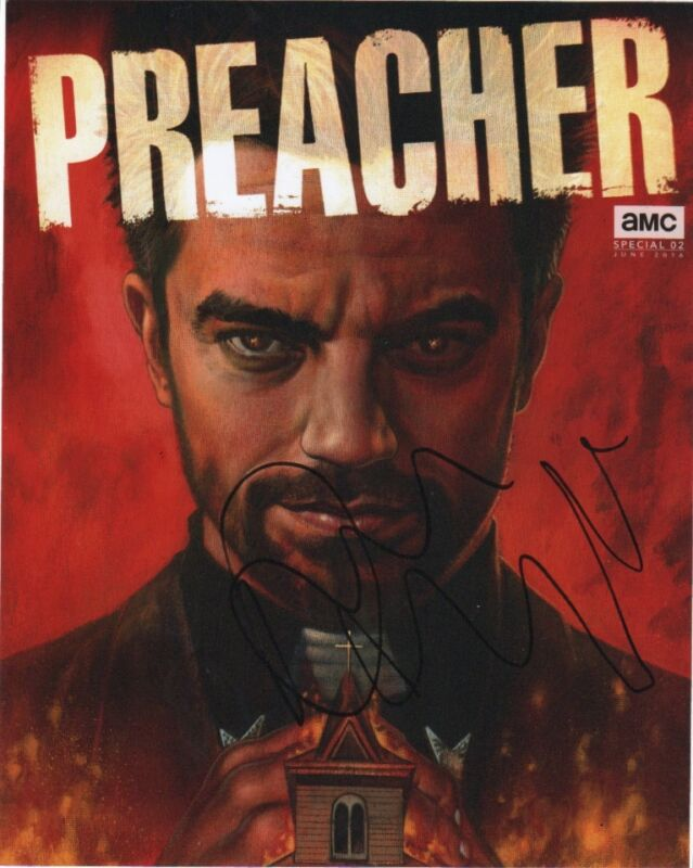 Dominic Cooper Preacher Autographed Signed 8x10 Photo COA #4