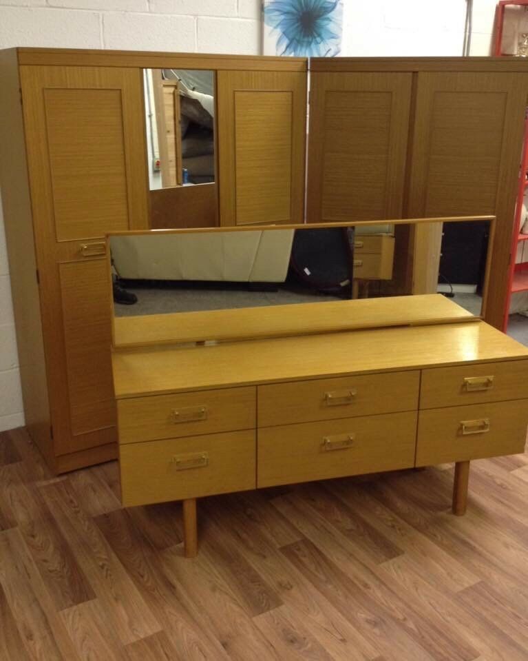 2 x double wardrobe and matching dressing table can deliver