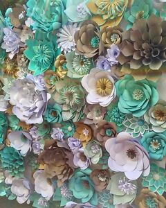 PAPER FLOWER WALL BACK DROP PERFECT FOR ANY OCCASION Chester Hill Bankstown Area Preview