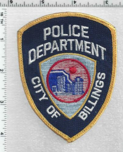 Billings Police (Montana) 2nd Issue Uniform Take-Off Shoulder Patch