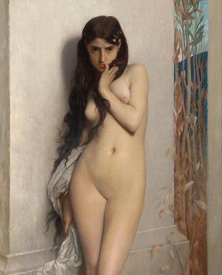 Nude Naked Female Sexy Women Classic Vintage Art Painting by Jules Lefebvre