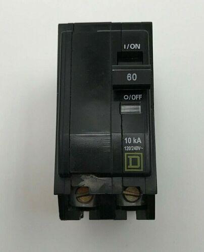 Square D 60 Amp QO Circuit Breaker 120/240Volt 2 Pole Cat# M-1750