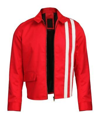 Elvis Jacke (Herren Elvis Presley Speedway Rot Baumwolle Streifen Jacke)