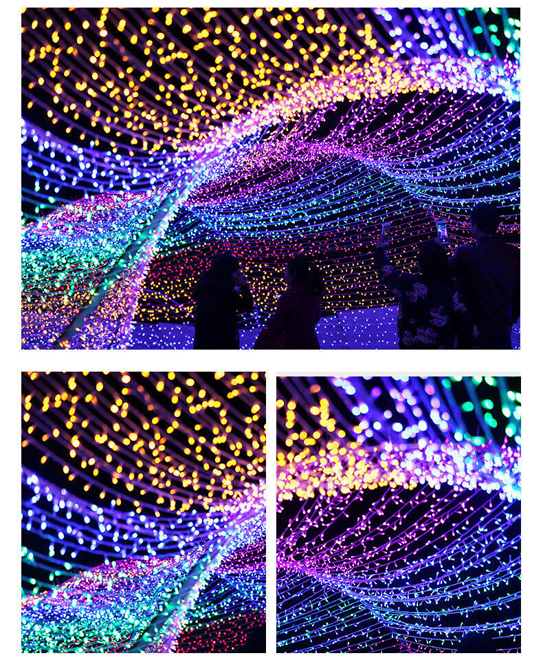 USA 100 LED 33ft Christmas Tree Fairy Light String Party Lights Waterproof Lamp Home & Garden