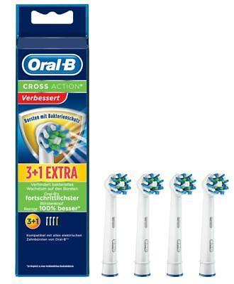 Braun Oral - B Aufsteckbürsten Cross Action Bakterienschutz 3+1