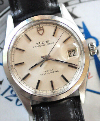 7f15e26d019 Tudor by Rolex Prince Oyster Date Watch Orig. Silver Dial Ref 75000  Serviced ++