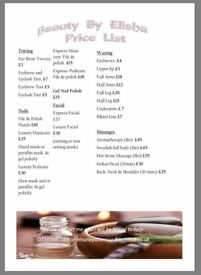 Mobile beauty therapist Enfield based