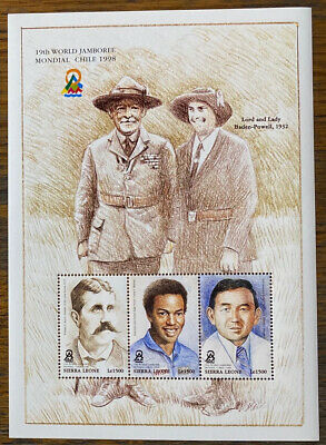 SIERRA LEONE  2138 Beautiful Mint NEVER  Hinged  SCOUTING Souvenir  Sheet UPTOWN