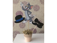Tom and jerry party table center piece