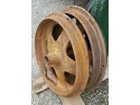 Fordson n cast front wheels